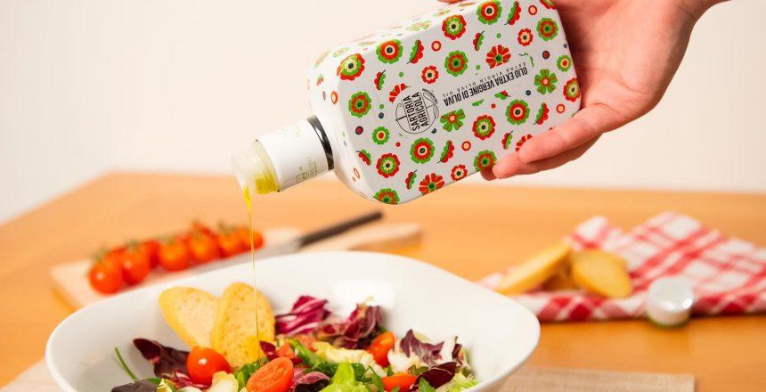 olio extravergine di oliva insalate